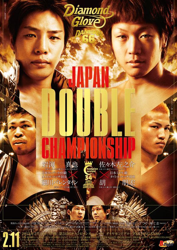 DANGAN66 日本スーパーライト級&日本ミドル級タイトルマッチ 試合結果