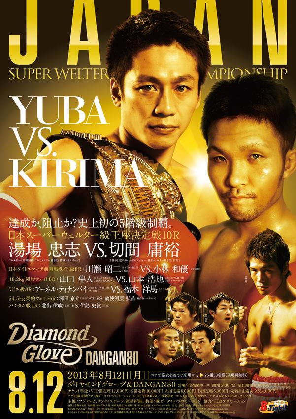 ダイヤモンドグローブ&DANGAN80 日本スーパーウェルター級王座決定戦 試合結果