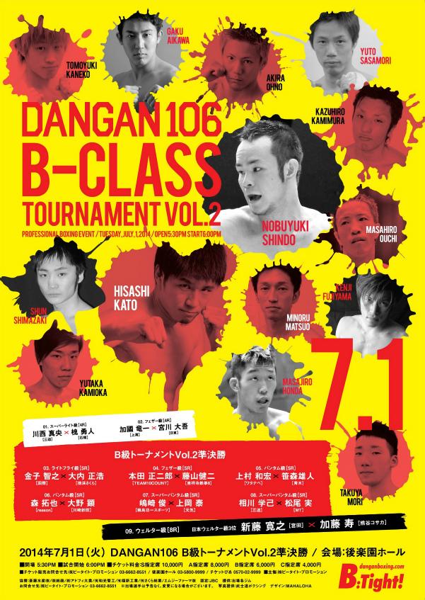 DANGAN106 DANGANB級トーナメントVol.2 試合結果