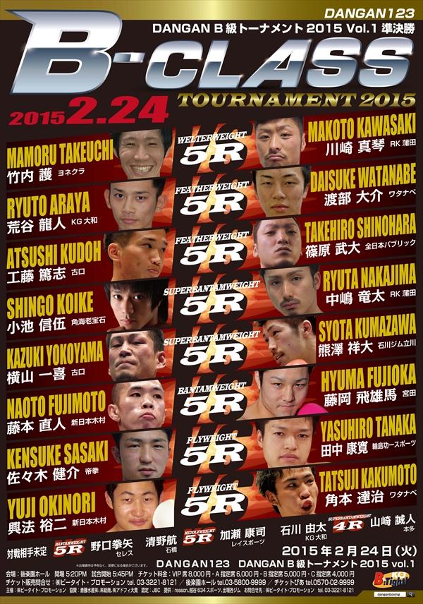 DANGAN123 DANGANB級トーナメント2015 Vol.1準決勝 試合結果
