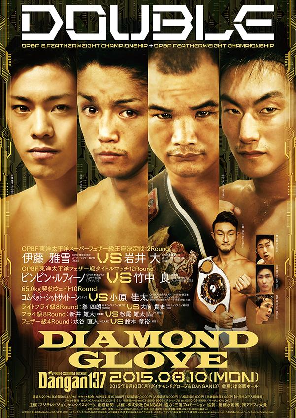 ダイヤモンドグローブ&DANGAN137 OPBF東洋太平洋Sフェザー級王座決定戦&フェザー級タイトルマッチ 試合結果