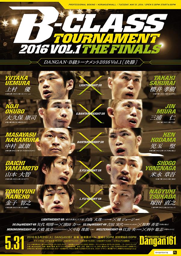 DANGAN161 DANGANB級トーナメント2016 Vol.1決勝 試合結果